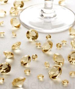 Tischkristalle Gold